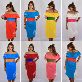 3661b9f53 Lote De 12 Vestidos Tipo Campesina De Manta Unitalla Y Xl