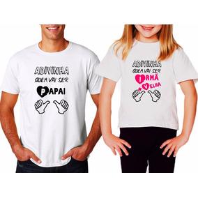 Camiseta Com Frase Que Vai Ser Pai Camisetas No Mercado Livre Brasil