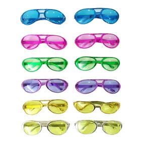 Kit Com 100 Óculos Metalizados Para Festa Colorido Com Lente 068fcbaa6d