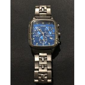 Reloj Citizen Titanium A510 Square Crono, Alarma,
