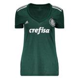 Nova Camisa Palmeiras Feminina Verde Branca Original Mulher