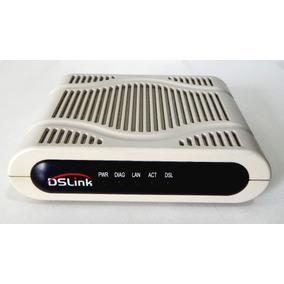 Modem Roteador Dslink 200 + Manual + Fonte Em Ótimo Estado