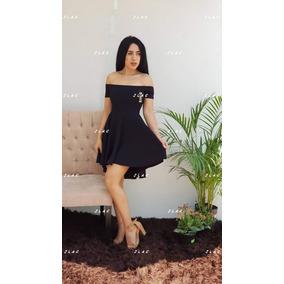 Vestido Negro Cola Pato Manga Corta Andreomys Envío Gratis