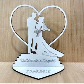 80x Lembrancinha Casamento Lb-32 Modelos - Mdf Branco 10cm