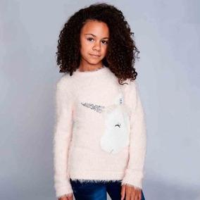 Unicornio Sweater Rosa Para Nina