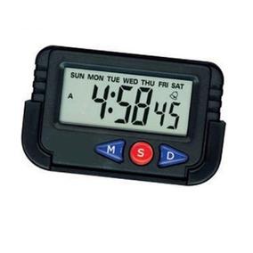 Relógio Digital Cronômetro Despertador De Carro E Mesa