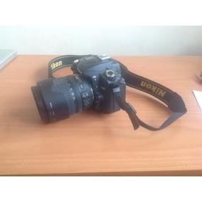 Nikon D90 Poco Uso Con Lente 18-105 Y Esctuche