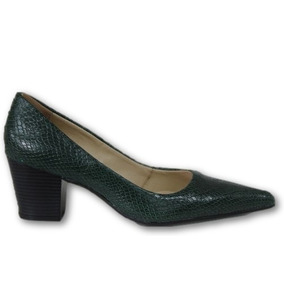 479e4b5307 Escarpans Femininos - Scarpins para Feminino Verde musgo no Mercado ...
