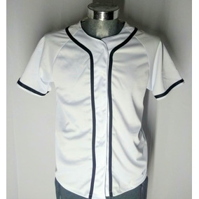 Jersey Casaca De Beisbol Baseball Lisa Moda Blanca 3796eceab02cd