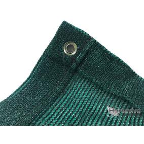 Tela Sombrite Verde 80% - 3m X 6m Com Bainha E Ilhós