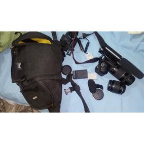 Câmera Fotográfica T5i +2 Lentes + Mochila + Microfones