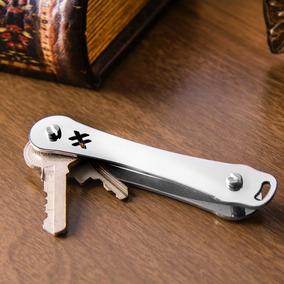Chaveiro Organizador - Tipo Canivete - Inox Escovado