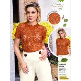 Blusa Casual Para Dama Color Terracota 985-17 Cklass 1-19