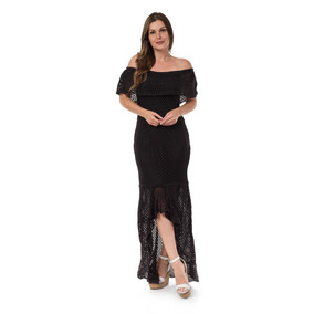 041ff9b621 Vestido Tomara Caia Preto - Vestidos De Noivas Longos Femininas no ...