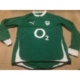 Camisa Rugby Irlanda Puma Mangas Longas Gg