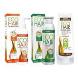 Eco Hair Combo Anticaida Crecimiento Locion+sham+aco X 3 Mes