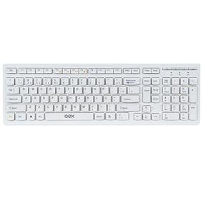 Teclado Flat Branco Compacto Slim Notebook Usb Tc300 Oex