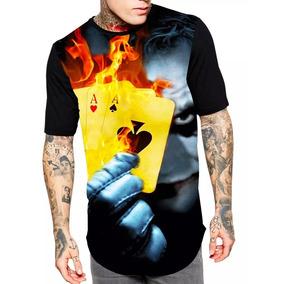 Camiseta Camisa Longline Estampa Full Coringa Unissex Oferta bc71bc1a07c
