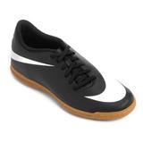 Tenis Futsal Nike Infantil Bravata 2 Preto - Original + Nf