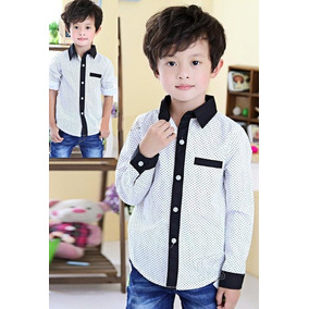 46411b1f477fa Camisa Blanca Manga Larga Para Niños - Camisas en Mercado Libre ...