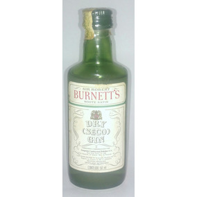Bebida Decorativa Mini Garrafa Gin Burnett
