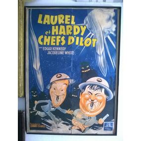 Poster De Cinema 1953 Gordo E Magro Frances