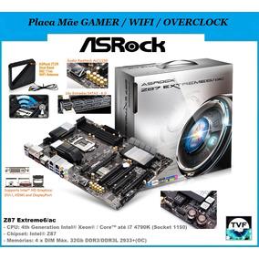Placa Mãe Gamer Top Asrock Z87 Extreme6/ac Até I7 4790k