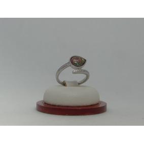 Hermoso Anillo De Plata 925 Con Opalo Y Cristales 5a686b5