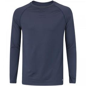 fe4899c9ef Camiseta Manga Longa Oxer New - Masculina - Azul Escuro
