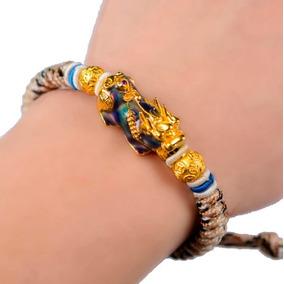 Pulsera Premium Tibetana Piedra Cambia Color Hilo Moda Buda
