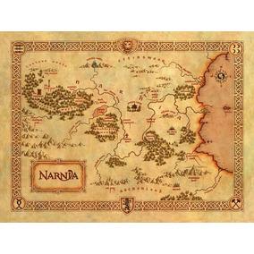 Mapa Crônicas De Narnia - Poster 51x36cm