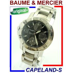 Baume & Mercier Capeland-s Chrono Para Canhotos Raridade !!!