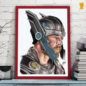 Desenho Realista Thor Ragnarok Original