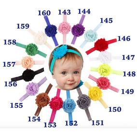 Lote 12 Diademas De Flor Para Bebé Niña