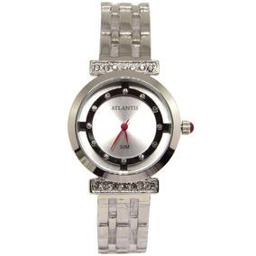 b773b567874 Relogio Atlantis Feminino Prata De Luxo Outras Marcas - Relógios De ...