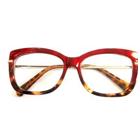 cb9507cf54cf9 Oculo Grau Feminino Moda - Óculos Vermelho no Mercado Livre Brasil