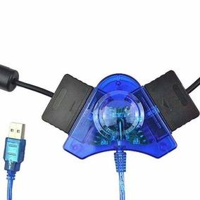 Adaptador Usb Duplo P/ Controles Ps3 Ps2 E Ps1 No Pc