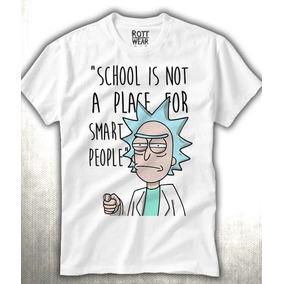 Rick And Morty School Playera Hombre Rott Wear Envió Gratis