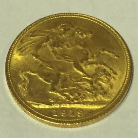 Moeda Em Ouro 23k, 8.3 Gr. Ano: 1919