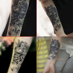 Tatuagem Temporária Fake Tatoo Pronta Entrega Crânio Clock