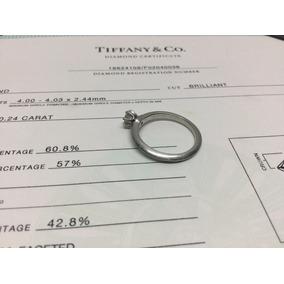 Anillo Tiffany & Co .24 Ct Original Platino Con Certificado