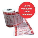 Lacre 95x20mm Para Pizza Marmitex, Ifood Delivery 7.000un
