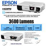Proyector Epson X41+ Powerlite 3600 Lumenes Wifi Hd Env S/c