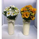 Flor Artificial- Con Florero- Adornos-hecho A Mano