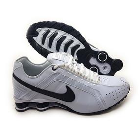 c6edc86f344 Tênis Nike Shox Junior Branco E Verde Limão Mod 12514 - Tênis no ...