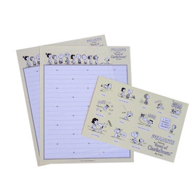 Conj 2x Papel Carta 1x Envelope Snoopy Turma Peanuts Fret9,5
