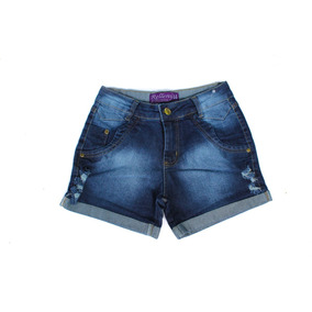 Short Jeans Feminino Plus Size Colorido 44 Ao 54 Hot Pants