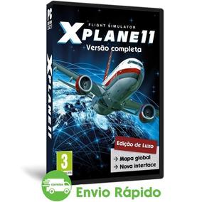X-plane 11 Pc Versão Mapa Global Simulador Avião Mídia Dvd