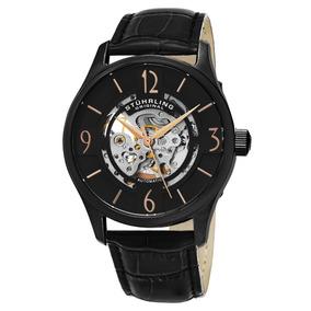 Reloj Stuhrling Automatico 42mm Skeleton Negro 557.03