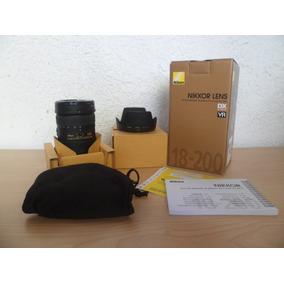 Nikon Lente 18-200 Af S Dx Vr Ii - F/3.5.- 5.6 G